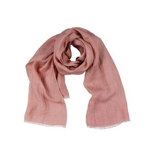100% Flax oversize scarf wrap pastel pink